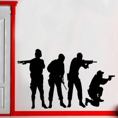 Adesivo De Parede Soldados Counter Strike