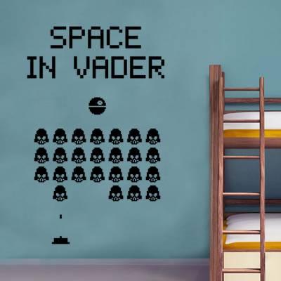 Adesivo De Parede Games Retrô Space In Vader