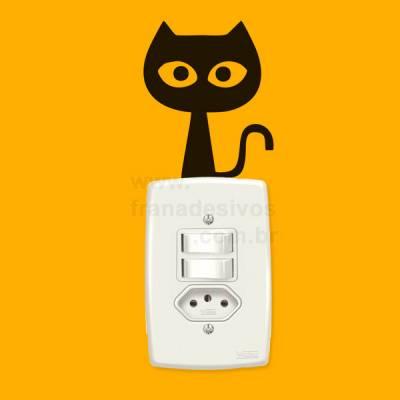 Adesivo para interruptor gato / gatinho 5