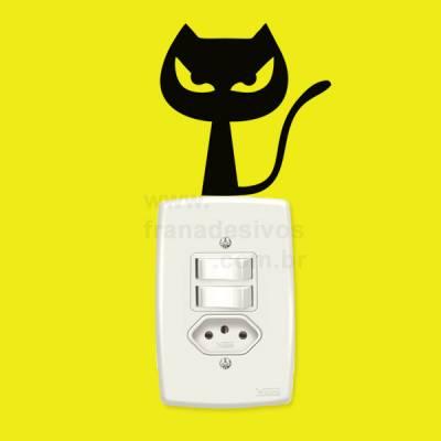 Adesivo para interruptor gato / gatinho 2