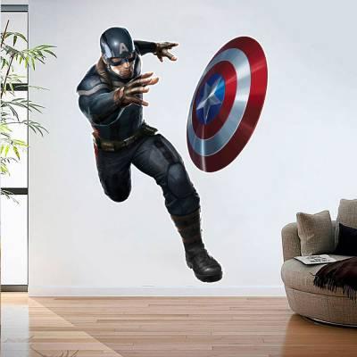 Adesivo De Parede Marvel Capitão América 02