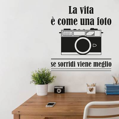 Adesivo de Parede Câmera Fotográfica