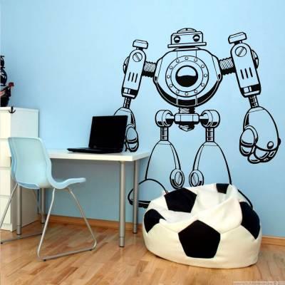 Adesivo De Parede Robo Combate