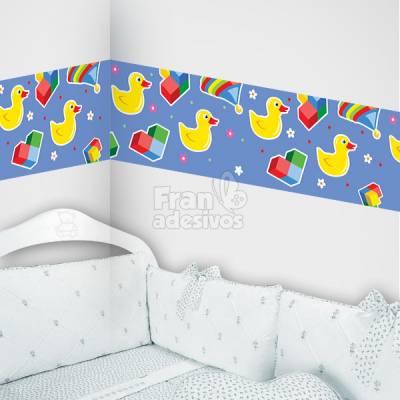 Faixa Decorativa para quarto infantil Patinhos - Lilas