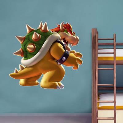 Adesivo De Parede Games Bowser Mario