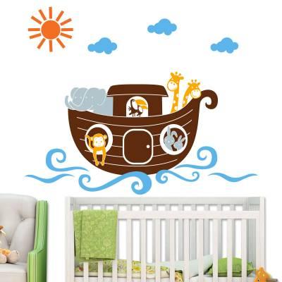 Adesivo De Parede Infantil Arca de Noé