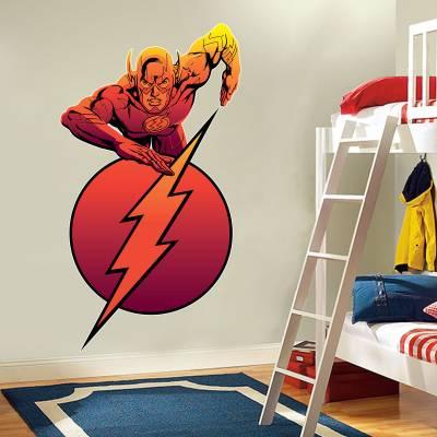 Adesivo De Parede Infantil Flash Super Heróis