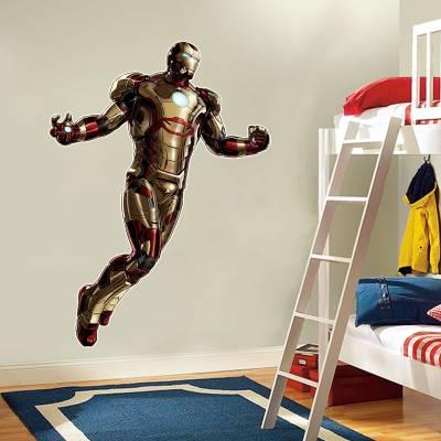 Adesivo de Parede Homem De Ferro Marvel