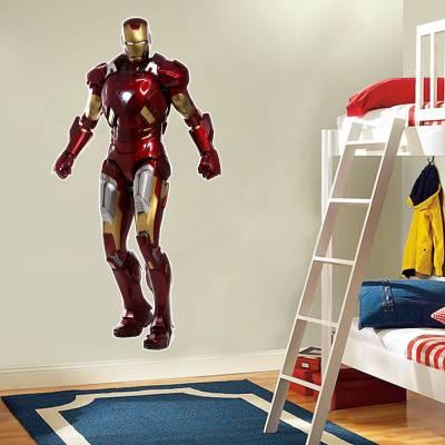 Adesivo Infantil Homem De Ferro Super Herói