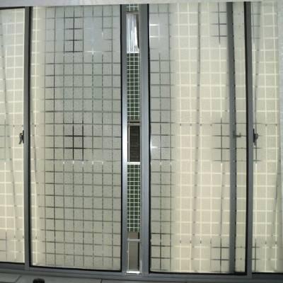 Adesivo Decorativo Jateado Quadriculado Para Vidro, Box, Janela, Porta 50cm De Largura