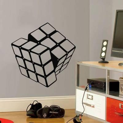Adesivo De Parede Cubo Mágico