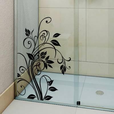 Adesivo para Box de Banheiro Floral/Arabesco