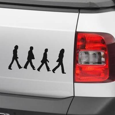 Adesivo de Carro E Moto Silhueta Beatles Abbey Road