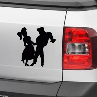 Adesivo Para Carro E Moto Casal Retrô Dançando