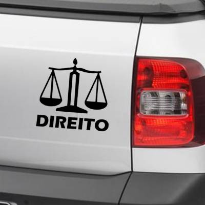 Adesivo de Carro E Moto Profissões Direito Advocacia