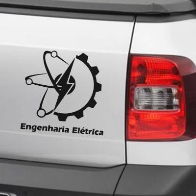 Adesivo de Carro E Moto Profissões Engenharia Elétrica