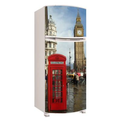 Adesivo para Envelopamento de Geladeira para Porta London Londres