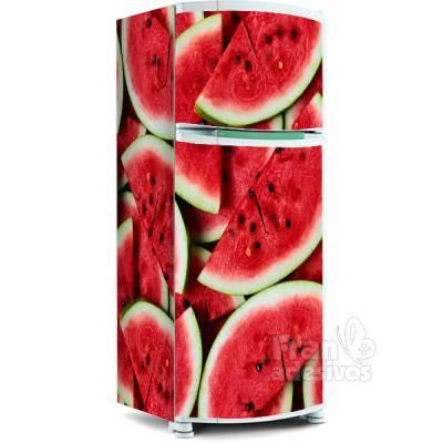 Adesivo para envelopamento de geladeira - Melancia