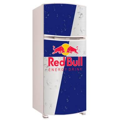 Adesivo para Envelopamento de Geladeira para porta Red Bull