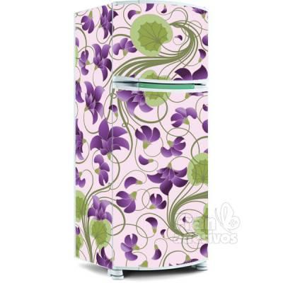 Adesivo para envelopamento de geladeira - Floral 6