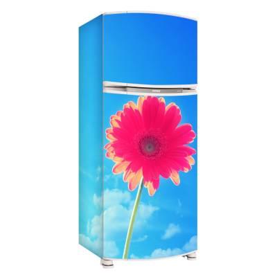 Adesivo para Envelopamento de Geladeira Completa Flores 2