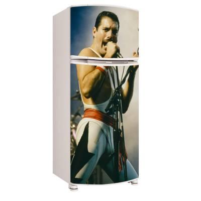 Adesivo para Envelopamento de Geladeira para Porta Freddie Mercury