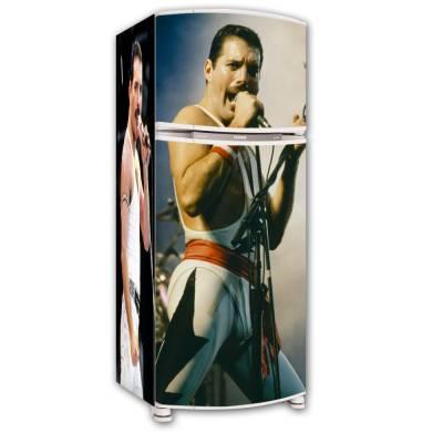 Adesivo para Envelopamento de Geladeira Completa Freddie Mercury
