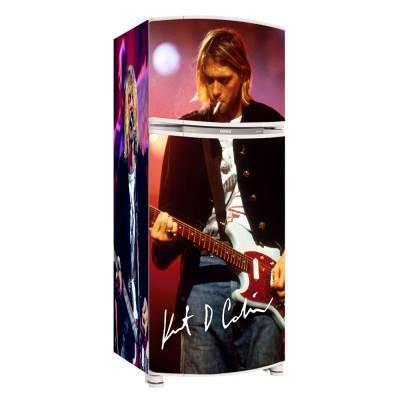 Adesivo para Envelopamento de Geladeira Completa Kurt Cobain