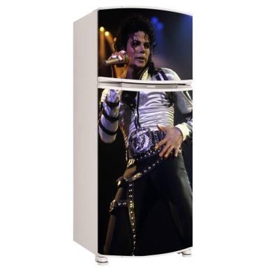 Adesivo para Envelopamento de Geladeira para Porta Michael Jackson