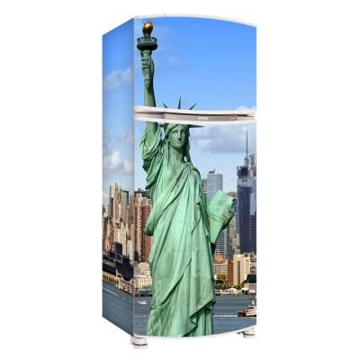 Adesivo para Envelopamento de Geladeira Completa Nova Iorque