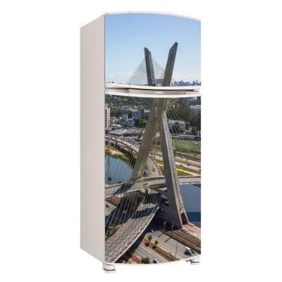 Adesivo para Envelopamento de Geladeira para Porta São Paulo Ponte Estaiada
