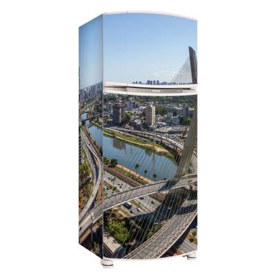 Adesivo para Envelopamento de Geladeira Completa  São Paulo Ponte Estaiada