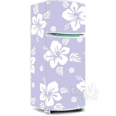 Adesivo para envelopamento de geladeira - Floral 5