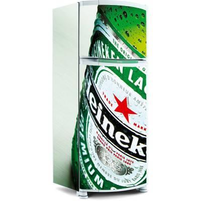 Adesivo para envelopamento de geladeira - Tema cerveja Heineken