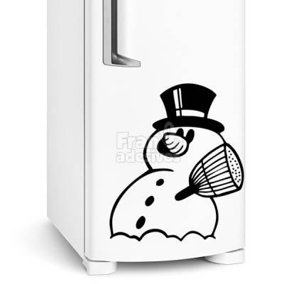 Adesivo de Geladeira Boneco de Neve modelo 2