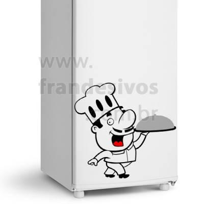 Adesivo de Geladeira Chefe de Cozinha 10