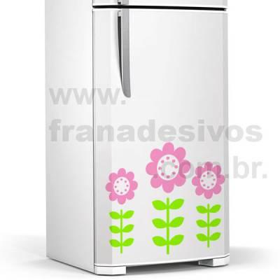 Adesivo de geladeira Flores Primavera