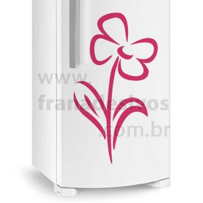 Adesivo de Geladeira Flor 2