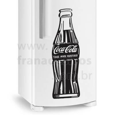 Adesivo de Geladeira Coca Cola Garrafa