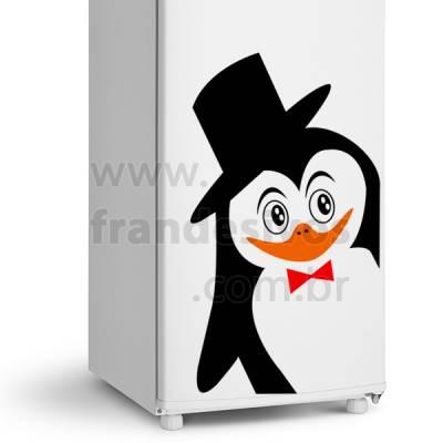 Adesivo de Geladeira Pinguim Elegante 2
