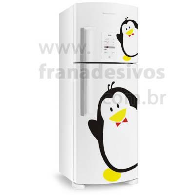 Adesivo de Geladeira Pinguim com Gravata
