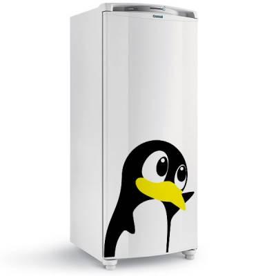 Adesivo de geladeira pinguim fofinho modelo 2