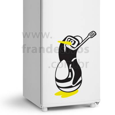 Adesivo de Geladeira Pinguim Mergulhador