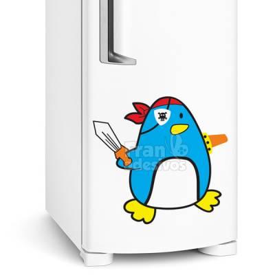 Adesivo para Geladeira Pinguim Pirata