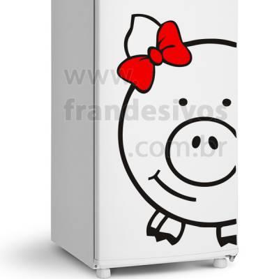 Adesivo de Geladeira Modelo Porco / Porquinho