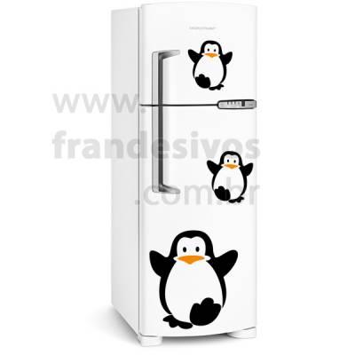 Adesivo de Geladeira Pinguins Turminha