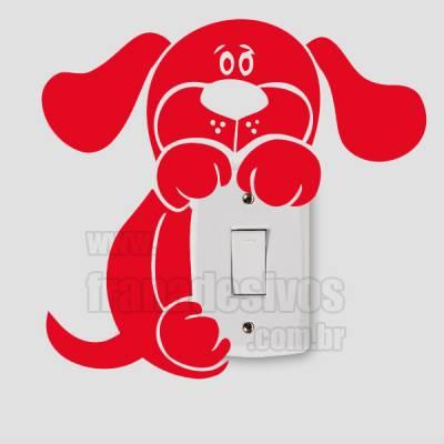 Adesivo de parede - Interruptor - Cachorrinho Pendurado