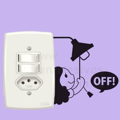Adesivo de parede - Interruptor - Apague a Luz
