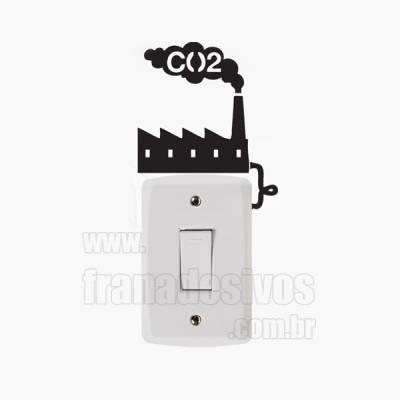 Adesivo de parede - Interruptor - Fábrica de energia