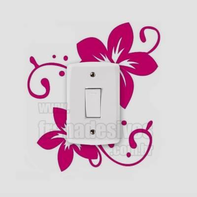 Adesivo de parede - Interruptor - Flor Delicada